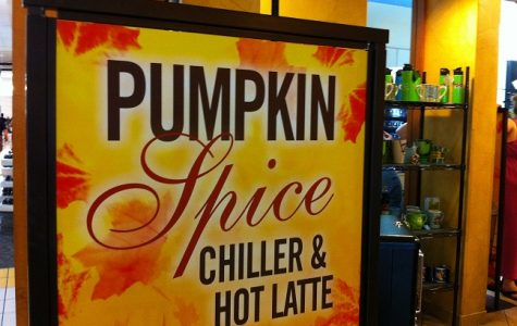 A sign feature seasonal pumpkin spice coffee offerings. Image used under the Creative Commons License via Wikimedia.org.